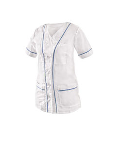 Ladies' smock with short sleeve.
