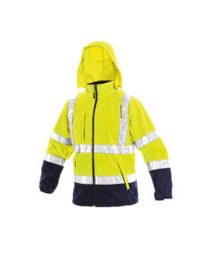 hivis softshell waterproof yellow jacket for embroidery and print