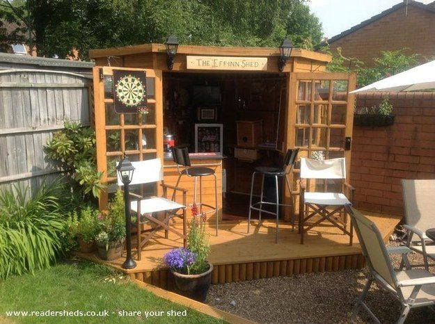 Bar shed in your garden