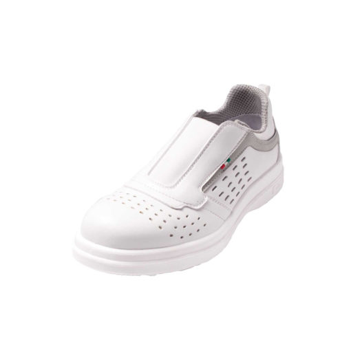 white sanitary perforated shoe
