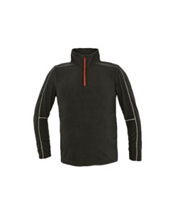 fleece black light quarter zip for embroidery cubis workwear welburn