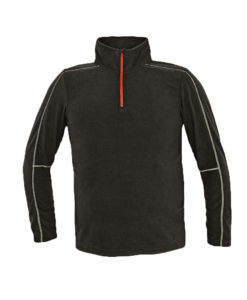 LIGHT BLACK FLEECE WITH QUARTER ZIP