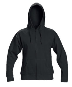 ZIP UP HOODIE JUMPER BLACK