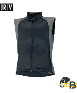 Men´s softshell vest with two side pockets. Side parts in contrast colour. Suitable for printing. black