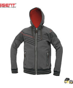 Men´s zipper hoodie from french terry bruched inside • 2 side zipper pockets