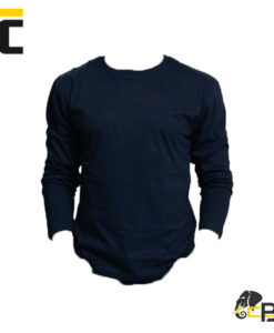 T-shirt with long sleeve. Fixing shoulder band. Suitable for printing and embroidery navy cambon