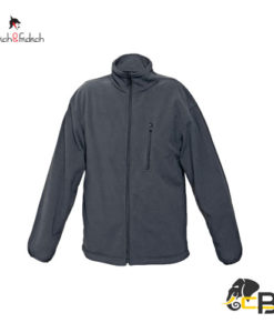 fleece jacket of classical cut with two front pockets and one breast pocket