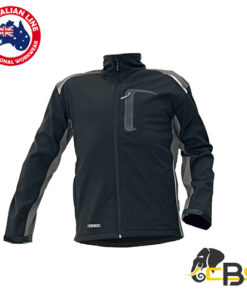 softshell jacket black waterproof and vapour permeability
