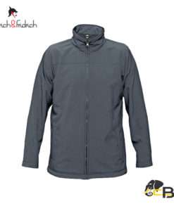 softshell zipper jacket with two front pocket.