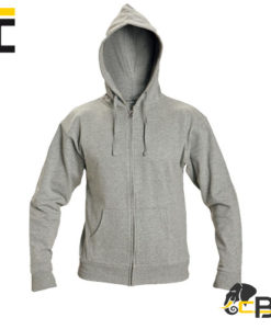 zip up hoodie made of very comfortable material. Metal zipper. Two side pockets. Suitable for printing and embroidery, Nagar grey