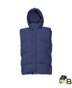 men vest of modern cut with detachable hood • perfect thermal insulation • light • bottom hem with drawstring