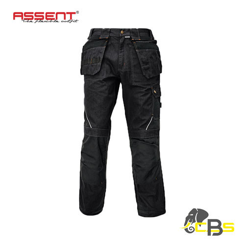 detachable multifunctional pockets work trousers black lahr
