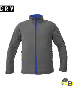 gents soft shell jacket with contrast zippers • light double layer soft shell material • adjustable width of sleeves through Velcro fastening