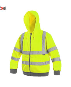 hivis zip up hoodie yellow frome