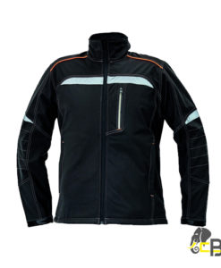 soft shell jacket in modern design with refl ective elements on front part and both sleeves