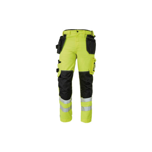 hivis work trousers pockets knoxfield yelow