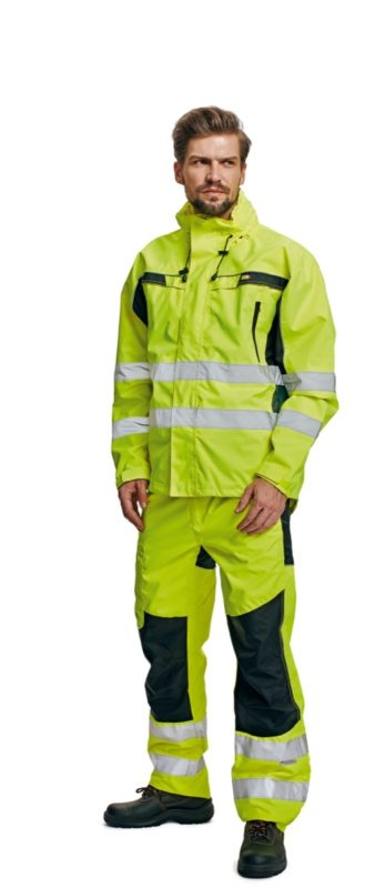 hivis l waterproof jacket for print and embroidery ticino orange