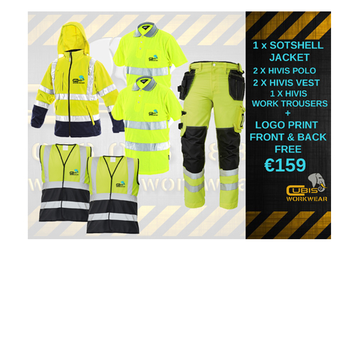 embroidery bundle cubis workwear HIVIS WITH WORK TROUSERS