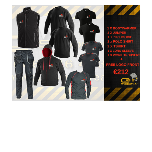 embroidery bundle cubis workwear black red