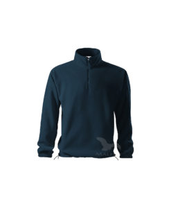 fleece jacket with short zipper navy horizon 520 adler 2