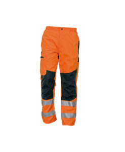 hivis l waterproof trousers bundle for print and embroidery ticino orange
