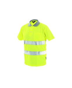 hivis polo shirt yellow dover