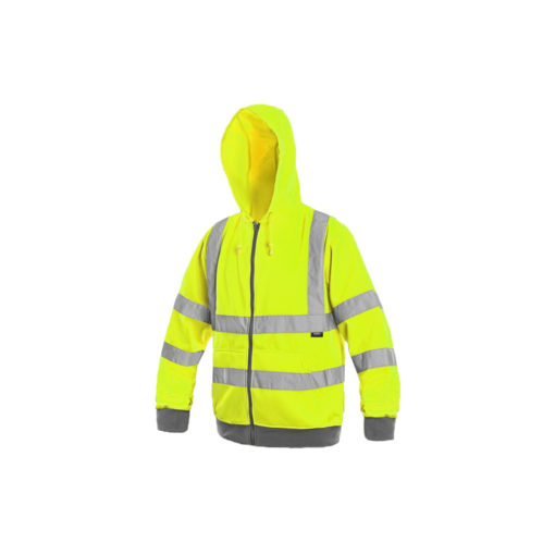 hivis zip hoodie jumperfrome for embroidery and print cubis workwear bundles
