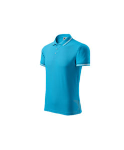 polo shirt atol blue urban embroidery print cubis workwear