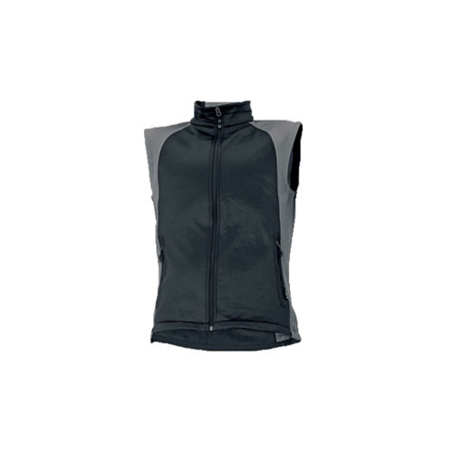 sofsthell bodywarmer black grey