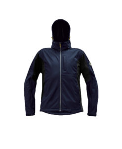 softshell jacket dayboro navy waterproof with hood cubis workwear cerva