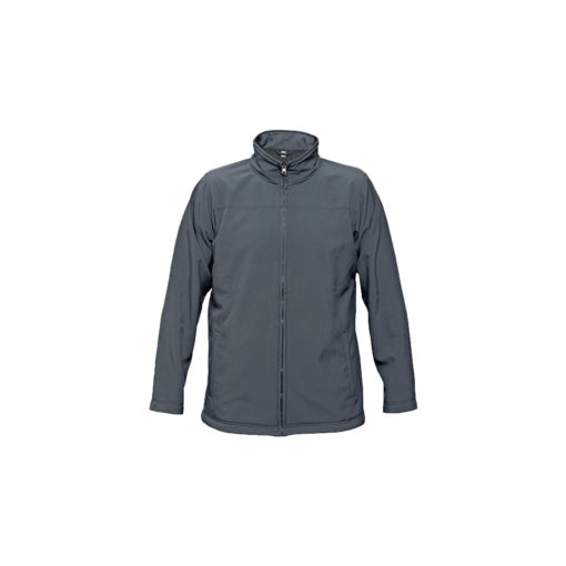 softshell jacket grey embroidery
