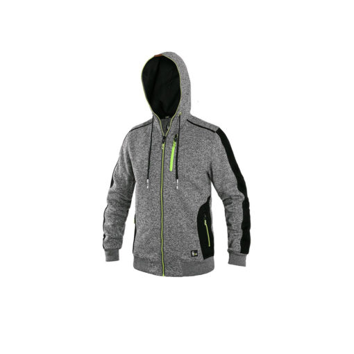zip up hoodie for embroidery grey