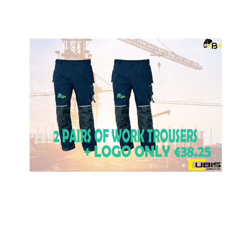 buy one get one free work trousers with logo