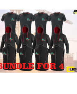 black red bundle for four cubis workwear