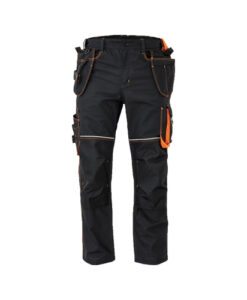 WORK TROUSERS holster pocket knoxfield dark grey orange